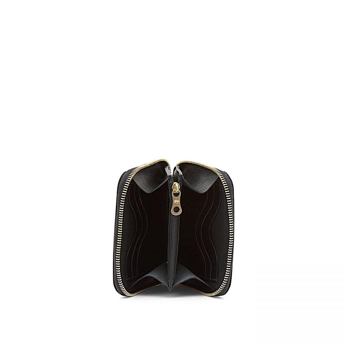 Portefeuille Zippé pour Homme  en Nylon SZW015 couleur Noir | Details