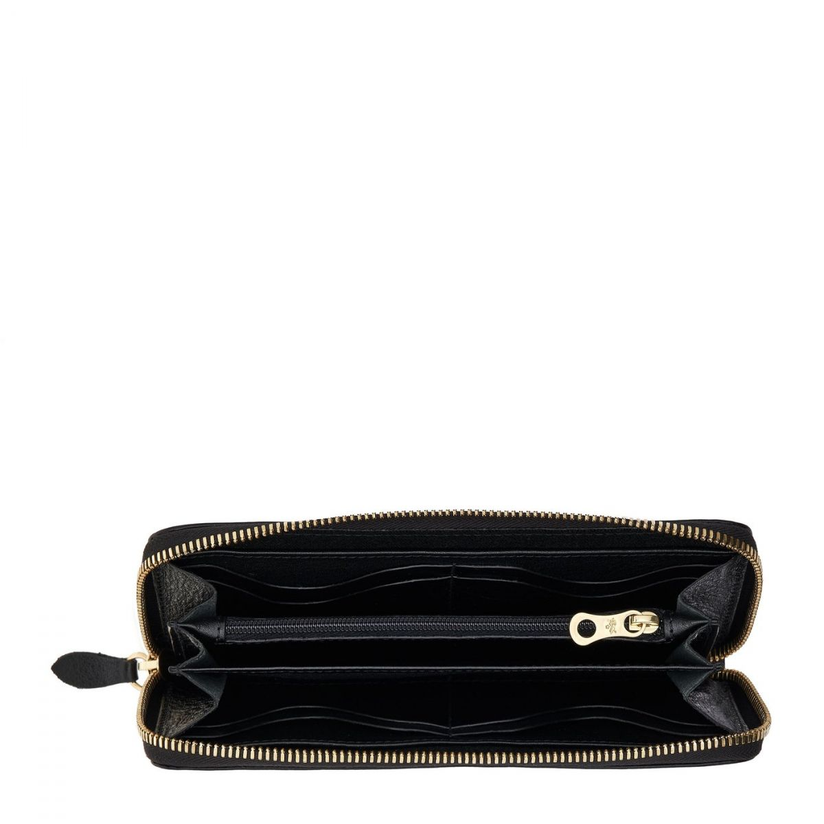 Portafoglio Zip da Donna in Pelle Di Vacchetta colore Nero - SZW033 | Details