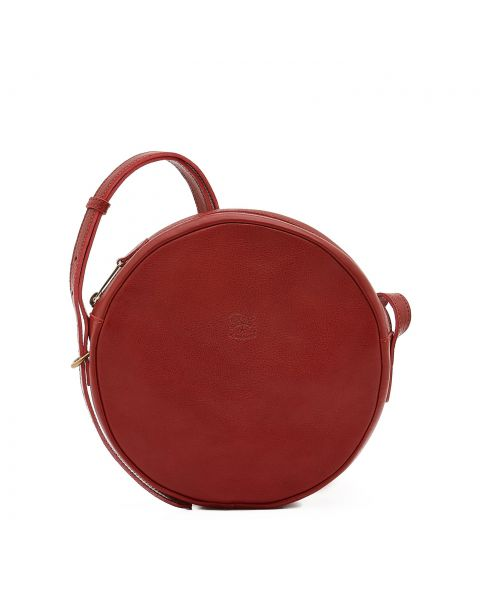 Disco Bag - Women's Crossbody Bag in Cowhide Leather color Red - Candy line BCR094