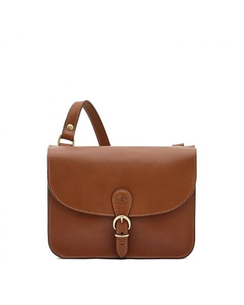 Women's Crossbody Bag Salina in Cowhide Leather BCR170 color Chocolate