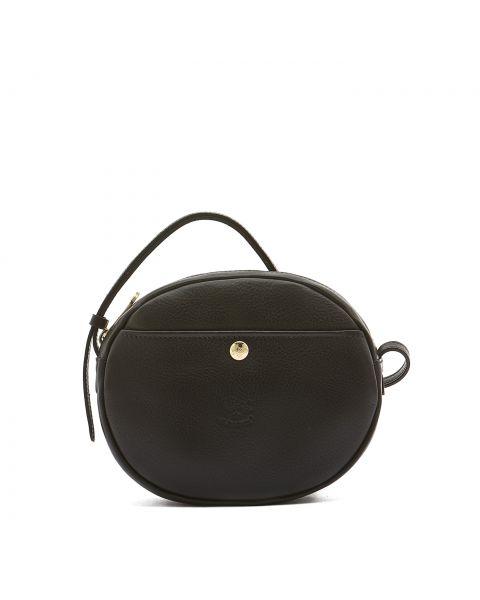 Women's Crossbody Bag in Cowhide Leather color Black - Rubino line BCR242