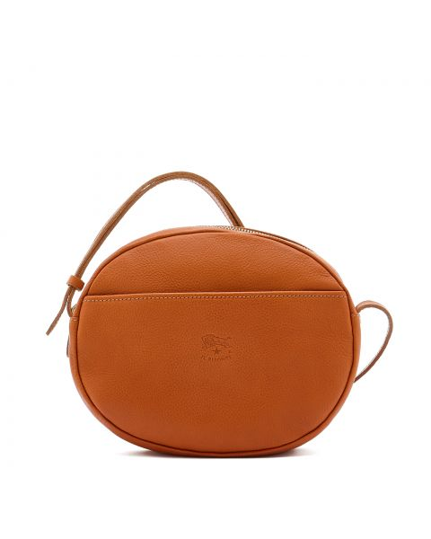 Women's Crossbody Bag in Cowhide Leather color Caramel - Rubino line BCR243
