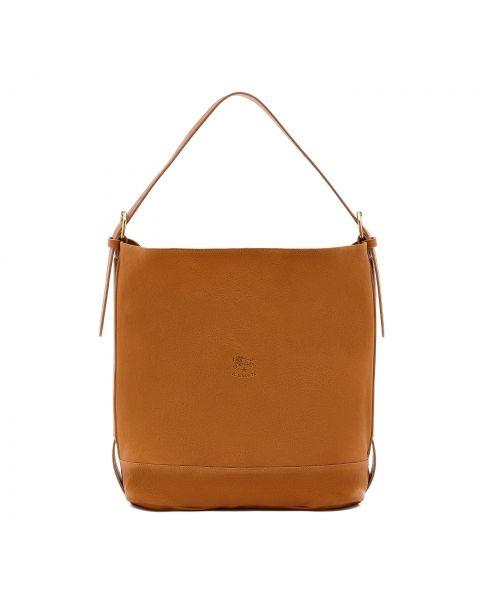 Sonia - Women's Shoulder Bag in Vintage Cowhide Leather color Natural - BSH028