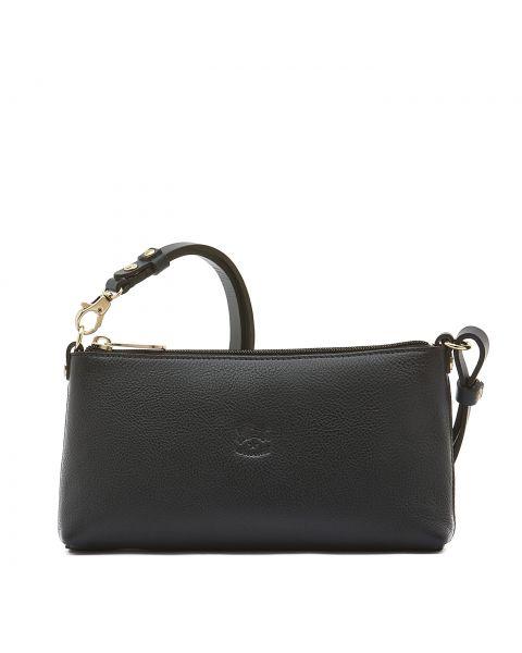 Lucia - Women's Shoulder Bag in Cowhide Leather color Blue - Salina line BSH091