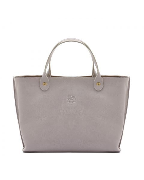 Federica - Women's Handbag in Cowhide Leather color Mauve - BTH016