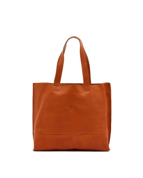 Women's Tote Bag Talamone in Cowhide Double Leather BTO003 color Caramel