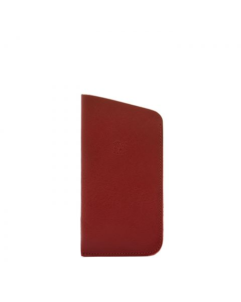 Case in Cowhide Double Leather color Red - SCA006