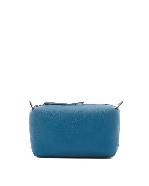 Women's Case in Cowhide Leather color Blue Teal - SCA012