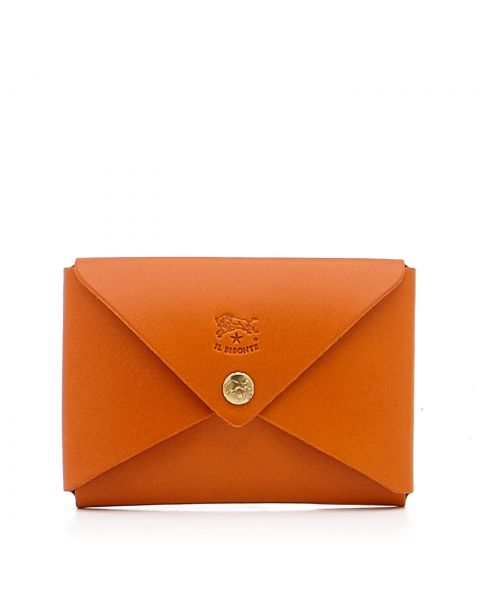 Sovana - Women's Card Case in Cowhide Double Leather color Orange - SCC031