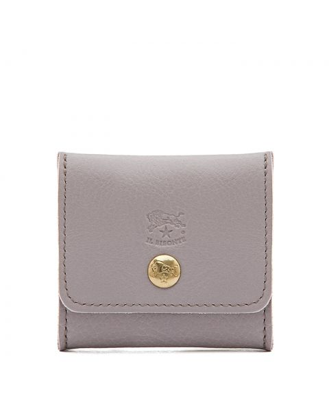 Coin Purse in Cowhide Leather color Mauve - SCP020