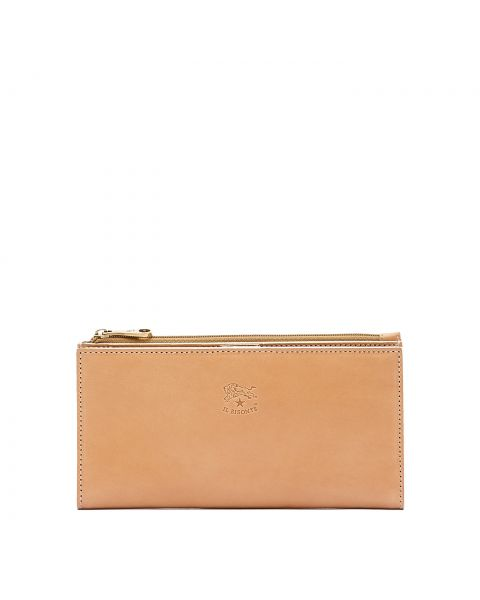 Women's Continental Wallet Giulia in Cowhide Leather SCW068 color Natural