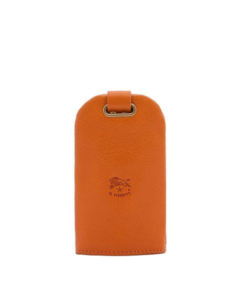 Porta Chiavi in Doppia Pelle Di Vacchetta colore Arancione - SKH007