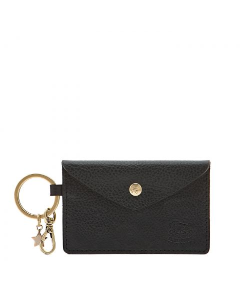 Scarlino - Women's Keyring in Cowhide Double Leather color Blue - SKH042