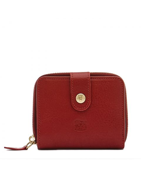 Women's Wallet in Cowhide Double Leather SMW067 color Red